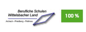 """Die Initiative Pro Recyclingpapier (IPR), das Umweltbundesamt und die Kompetenzstelle für nachhaltige Beschaffung würdigen die Beruflichen Schulen Wittelsbacher Land  auf der Plattform """"Grüner beschaffen"""" für die Verwendung von Papier mit dem Blauen Engel als """"Recyclingpapierfreundliche Schule""""."""